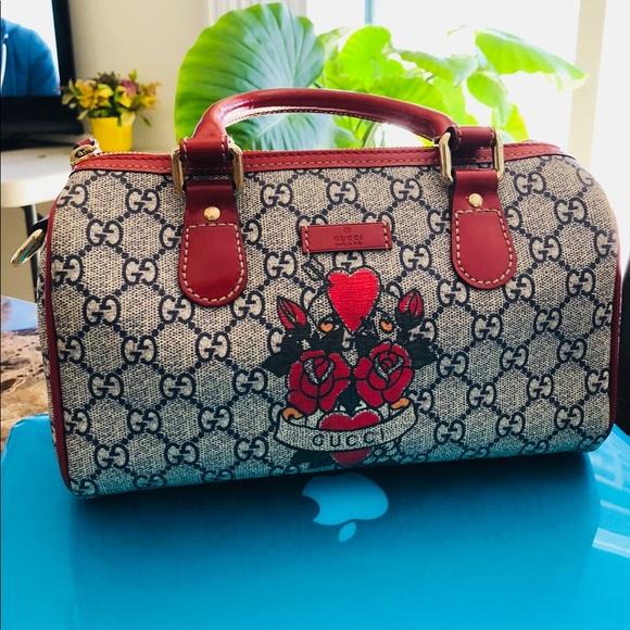 9e88c21dad4 Gucci Handbags - Authentic Gucci rose tattoo bag